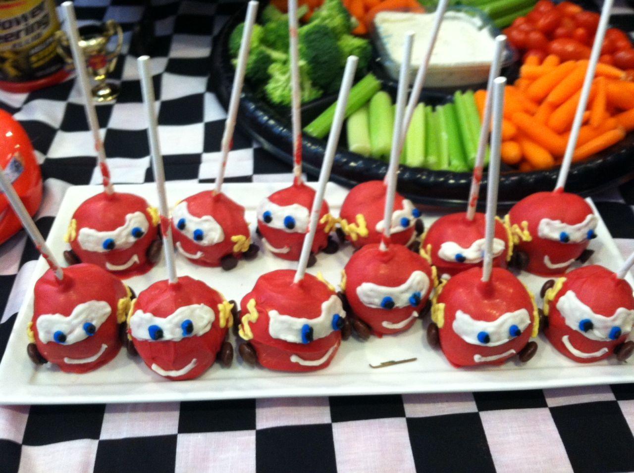 Cars Lightning Mcqueen Cakepops
