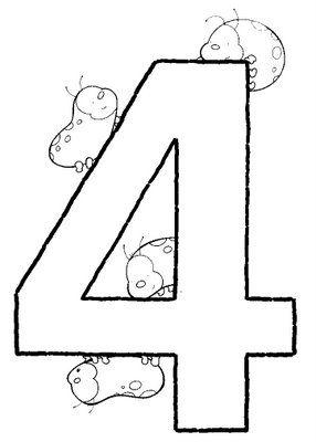 Aprender Los Numeros Del 1 Al 5 El Numero 4 Aprendizaje De Los Numeros Actividades Preescolar Matematicas Actividades De Lectura Preescolar