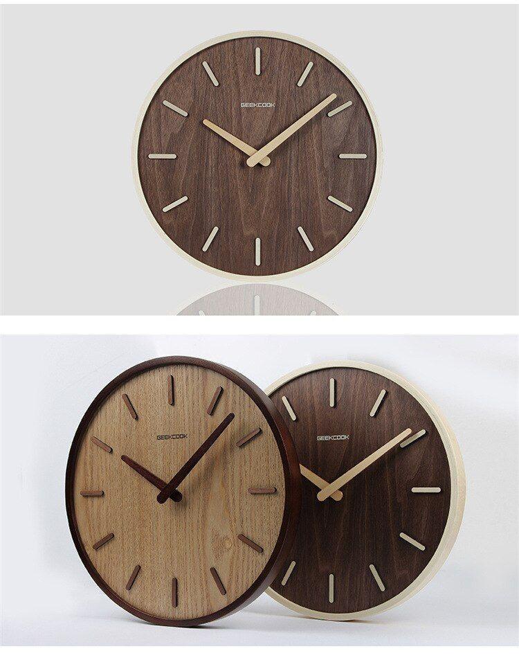 Creative 3d Wall Clock Modern Design Wooden Big Clocks For Living