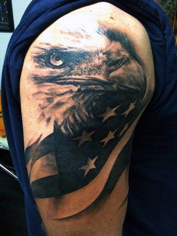 Eagle Full Arm Tattoo