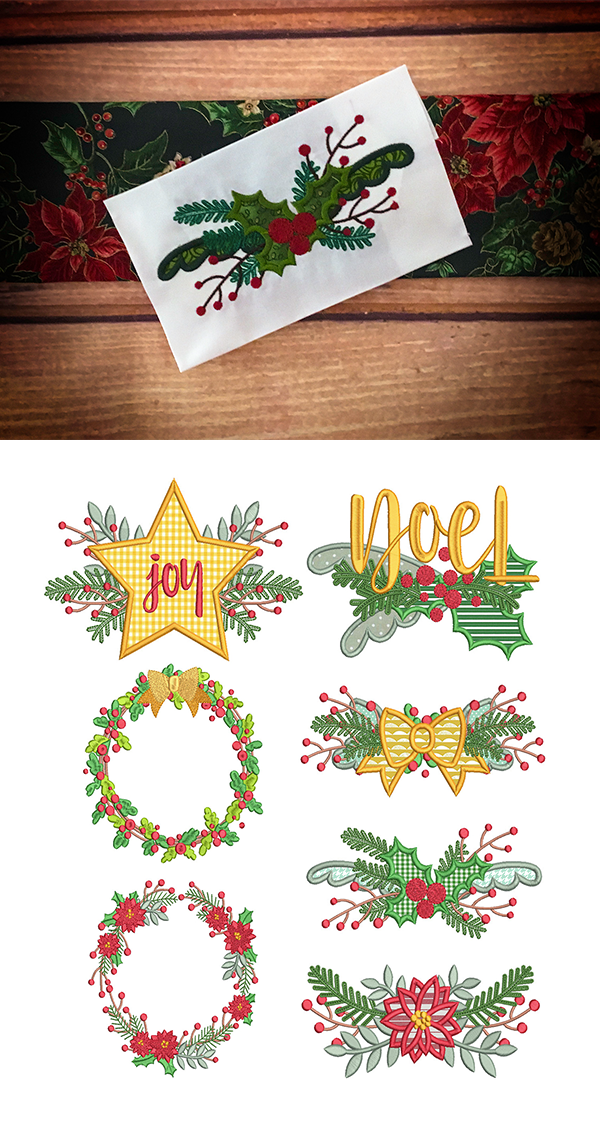 Download Christmas Designs For Embroidery Machine Instant Download Commercial Use Digital File 4X4 5X7 Hoop Icon Symbol Sign Santa Claus Bow Reindeer Horns 93B Crafter Files