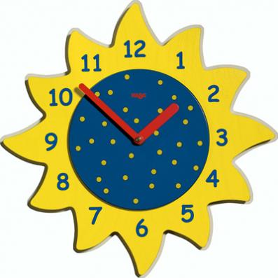 Reloj de pared Sol mágico de Haba | Reloj de pared