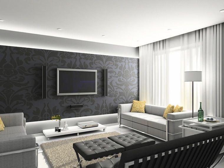 tende soggiorno-bianche-leggere-eleganti | Idee e ispirazioni per ...
