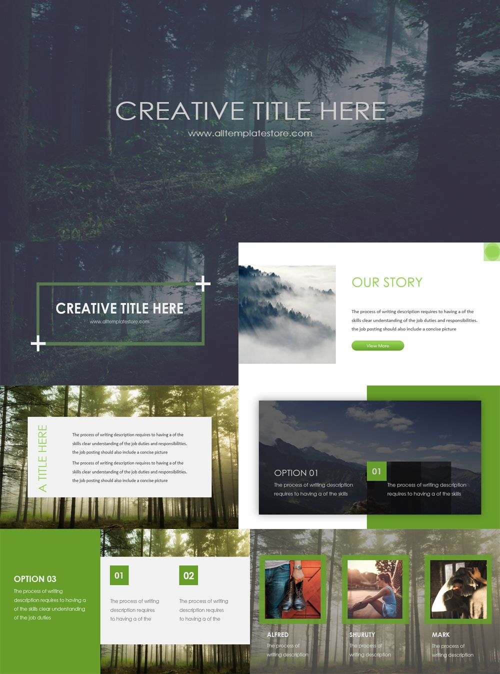 Green Nature Creative Presentation Template Is Free To