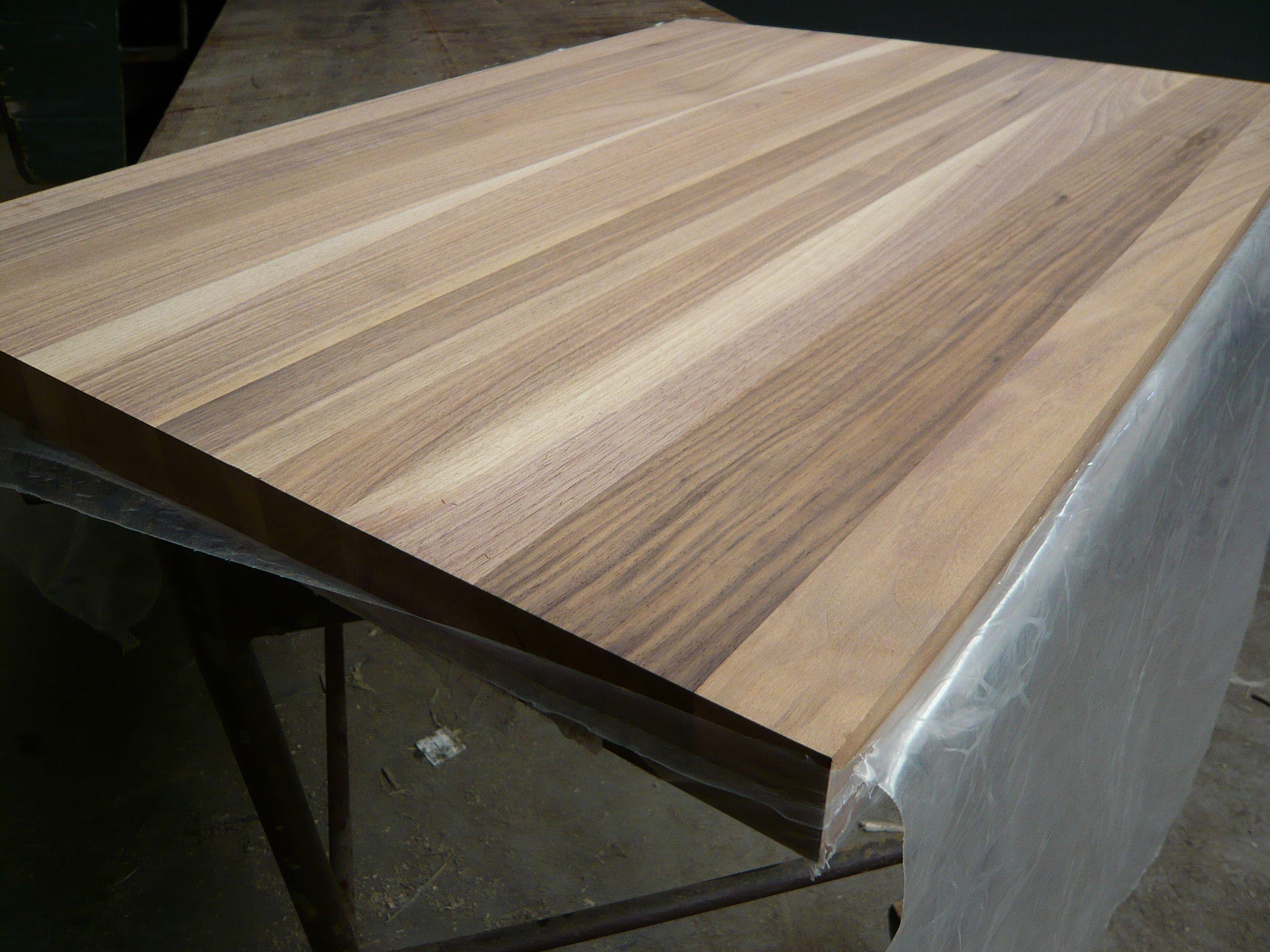 Leimholzplatte Massivholzplatte Nussbaum Durchgehende Lamelle D3 Verleimt Geschliffen 80er Korn Holz Nussbaum Holzplatte