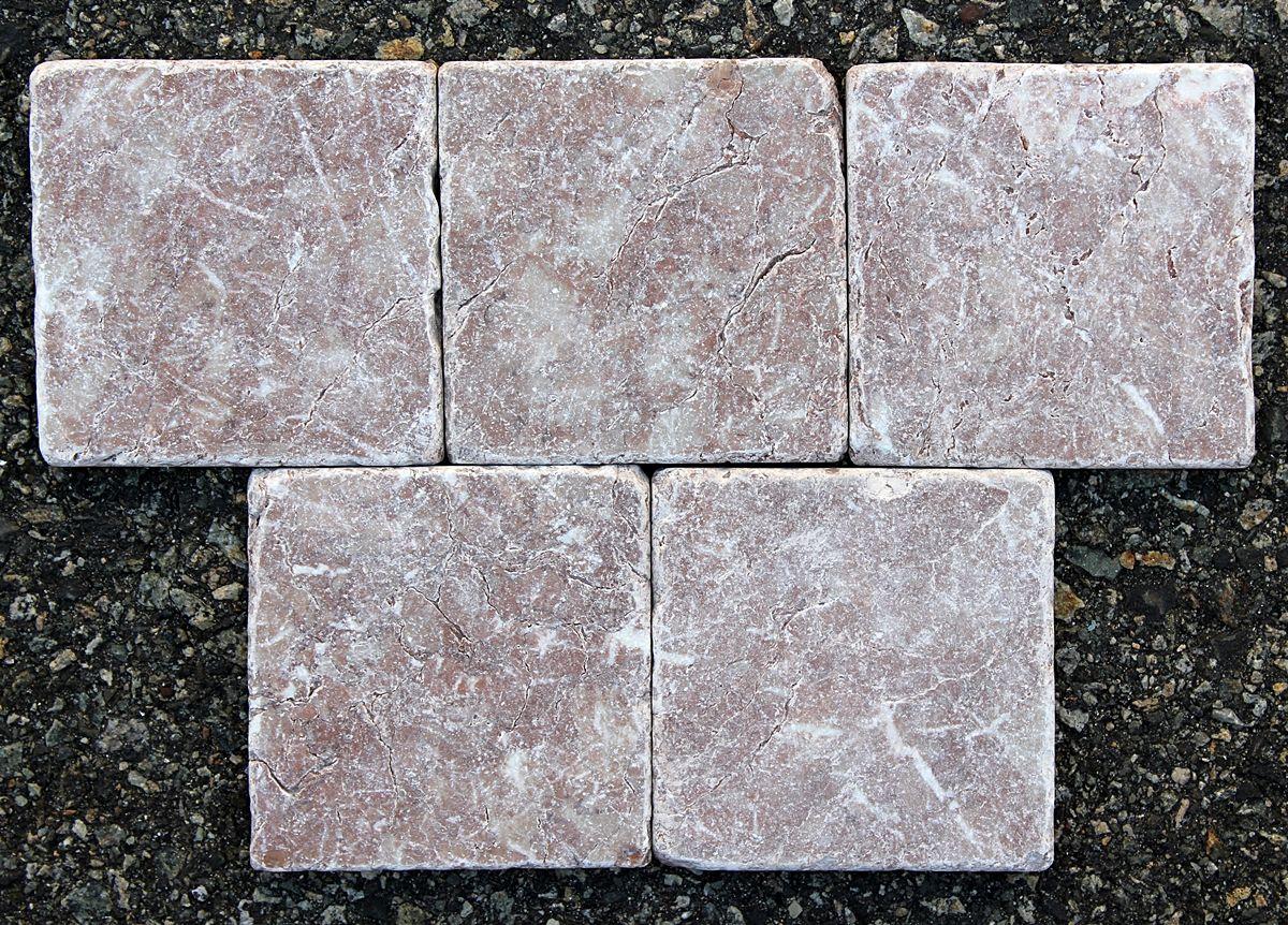 - 4x4 Rose Levante Tumbled 4x4 And 3x6 Tumbled Tumbled Marble