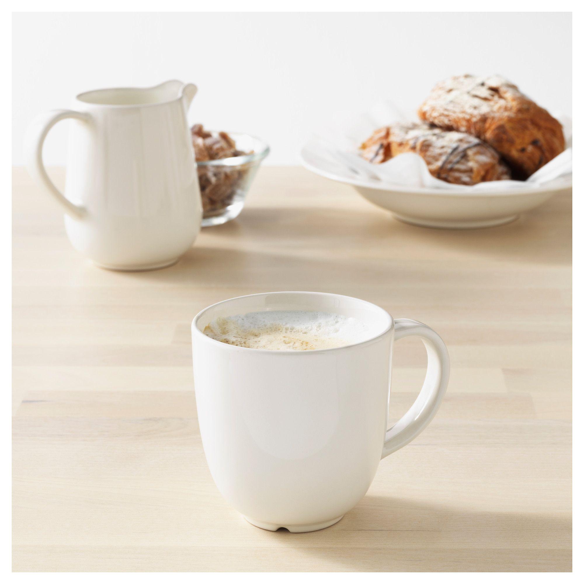 Ikea Vardagen Mug Off White Mugs Coffee Cups Saucers Ikea