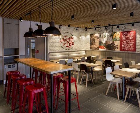 Vintage Interior Design Fast Food Restaurant Chain Kfc Is