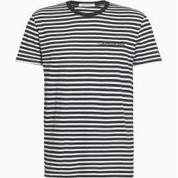 Photo of Calvin Klein Gestreiftes Slim Fit T-Shirt aus Bio-Baumwolle S Calvin Klein