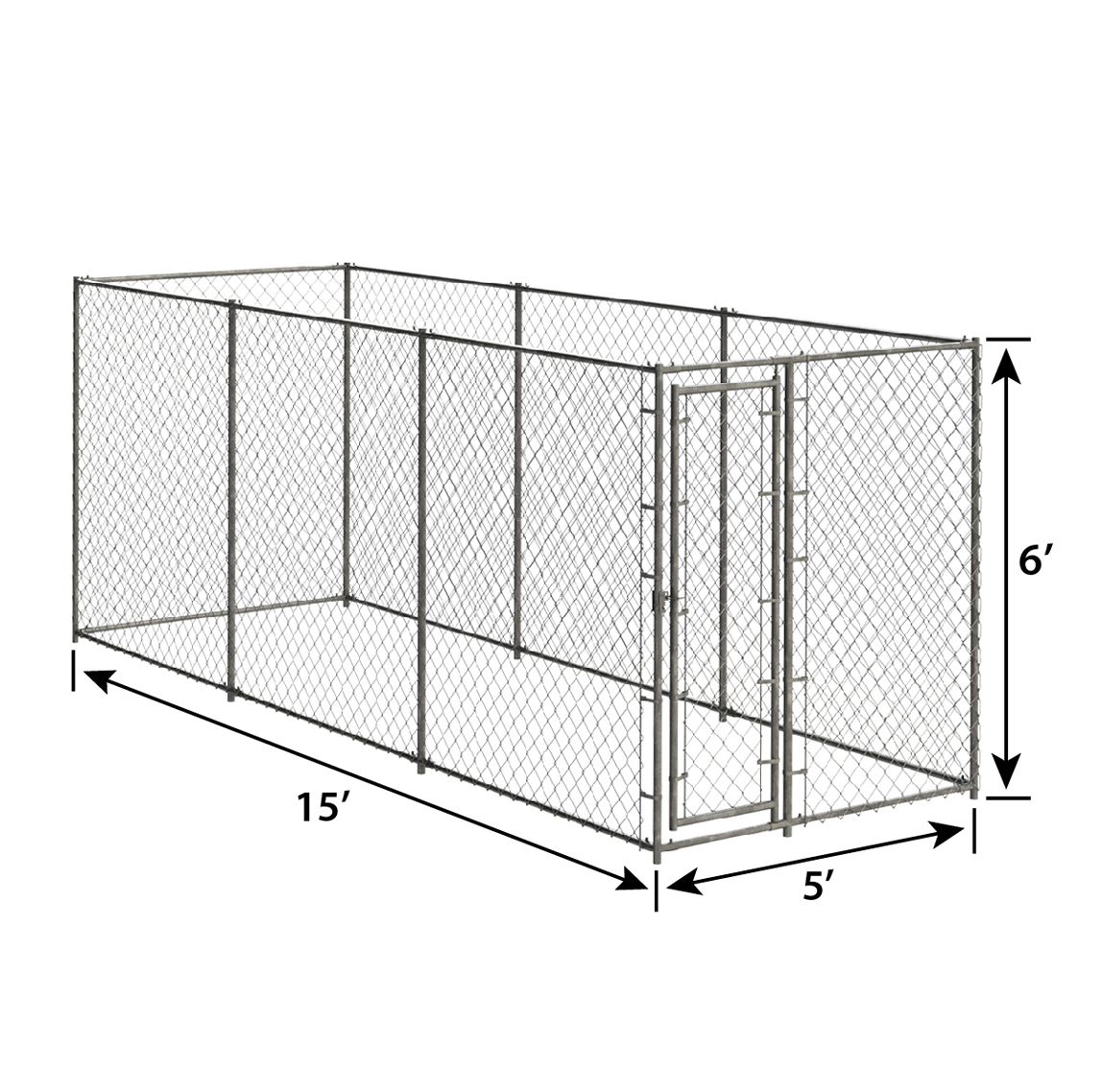 6ft H X 10ft W X 10ft D Chain Link Kennel Kit Pet Kennels Crates Playpens Pet Sentinel Products Pet Kennels Dog Kennel Outdoor Outdoor Dog House