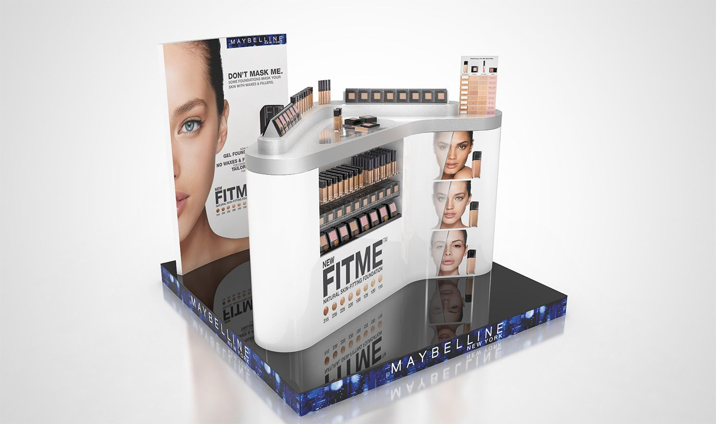 L Or Al Maybelline Corners Collection On Behance Displays  # Barre Duque Muebles