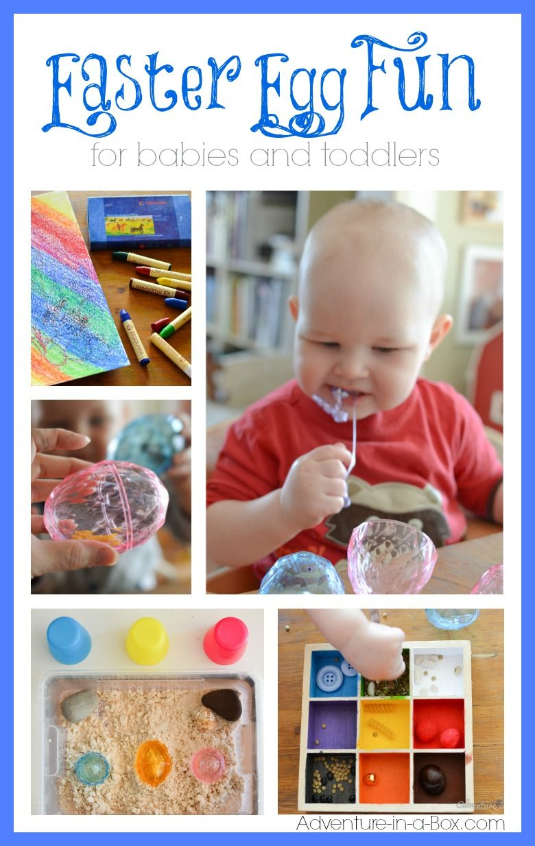 Easter Egg Fun For Babies And Toddlers Baby Easter Crafts Infant Easter Activities Easter Kids