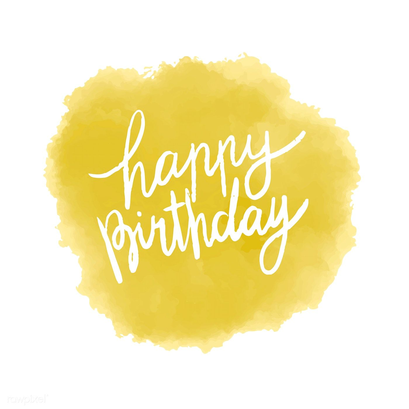 Happy Birthday Typography Vector In Yellow Free Image By Rawpixel Com Birthday Typography Happy Birthday Typography Happy Birthday Font