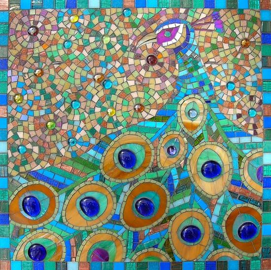 Peacock Mosaic for the garden Long Ashton Mosaic Gifts Artsy