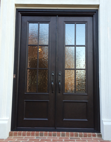 Double Divided Light Clark Hall Iron Doors Charlotte Nc Front