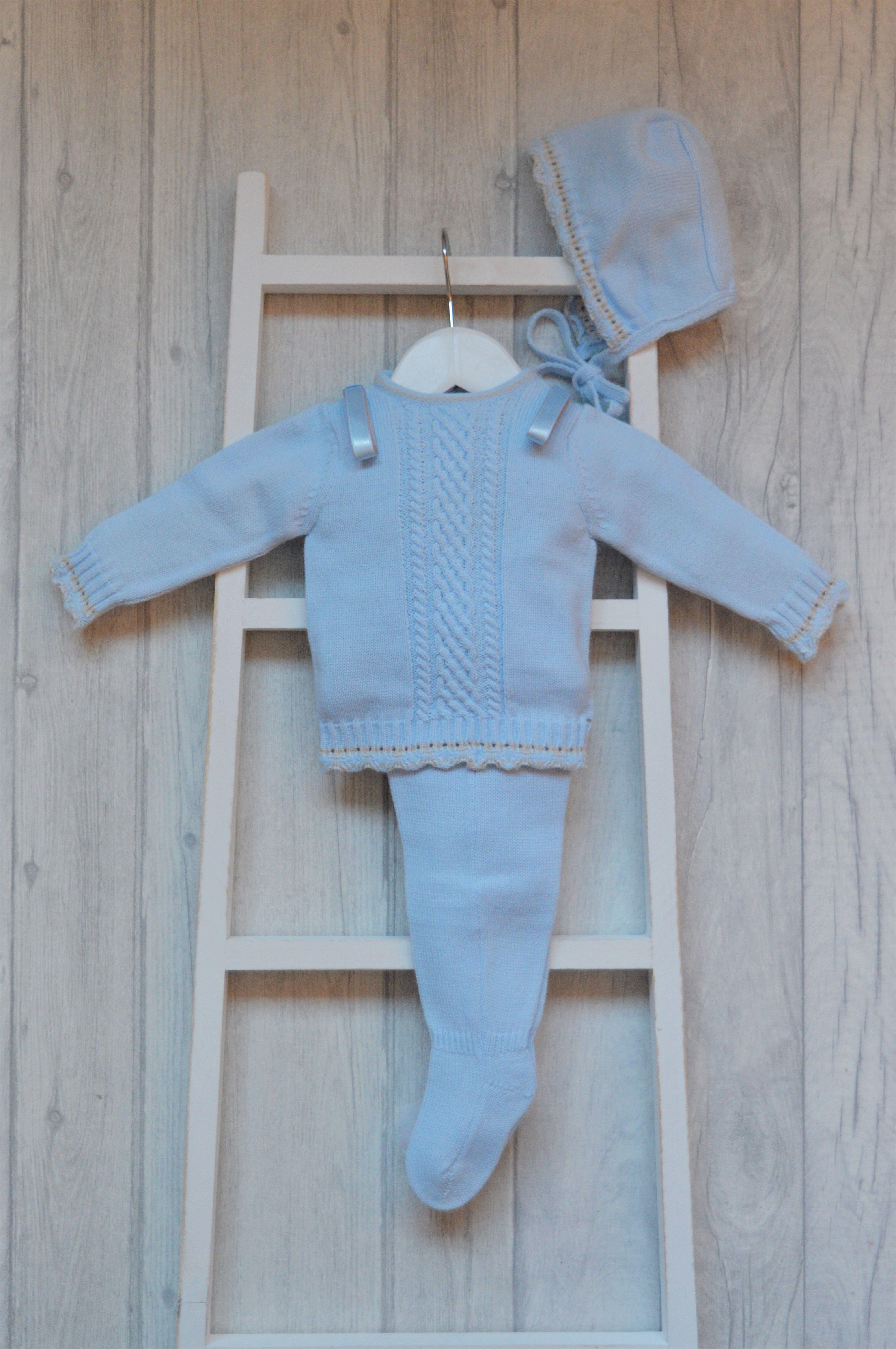 Martin Aranda Baby Boy Ribbon Loop Knit Set Baby Boy