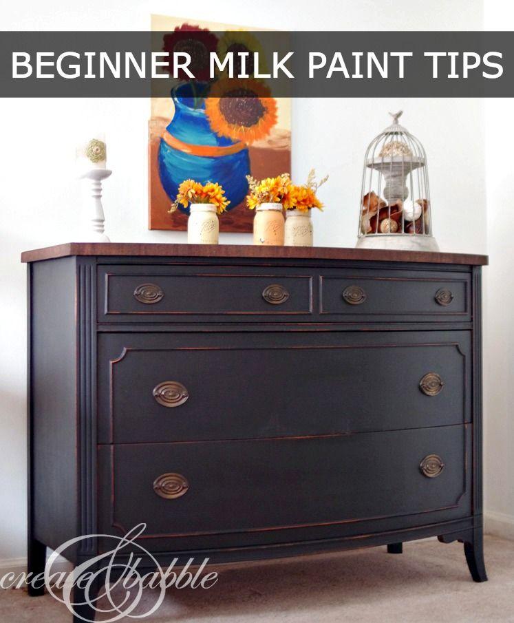 Pin On Tutorials Diy, Milk Paint Furniture Ideas