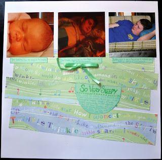 very sleepy baby girl daddy scrapbooking layout scrapbook page twinkle twinkle little star