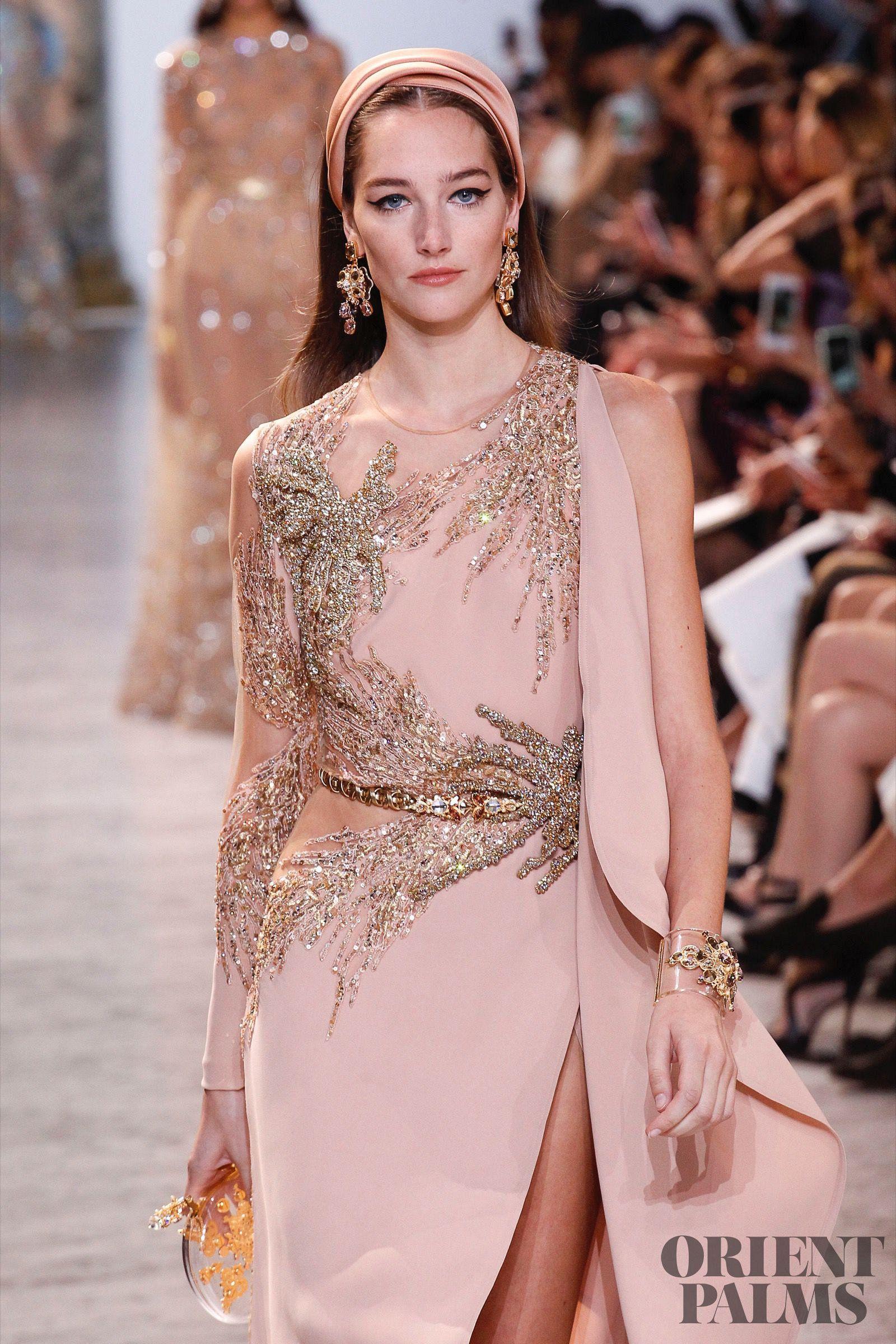 Elie Saab Spring-summer 2017 - Couture | Color champán, Damas y Comprar