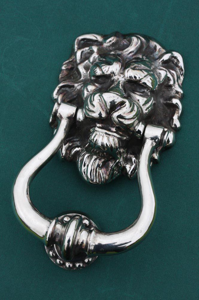 Bon Nickel Door Knocker Lion`s Head | Priors Http://www.priorsrec