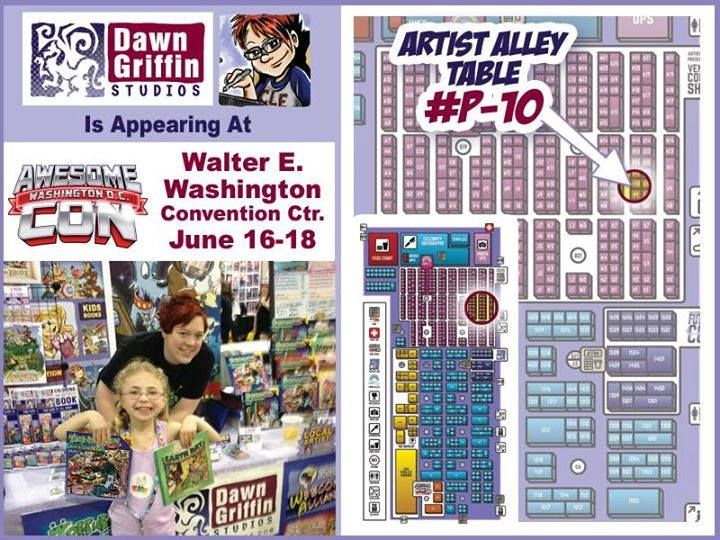 FINAL DAY of @AwesomeCon!! Come find me at table P-10 in Artist Alley! Kids workshop at noon! #comics http://ift.tt/2rbIPhf