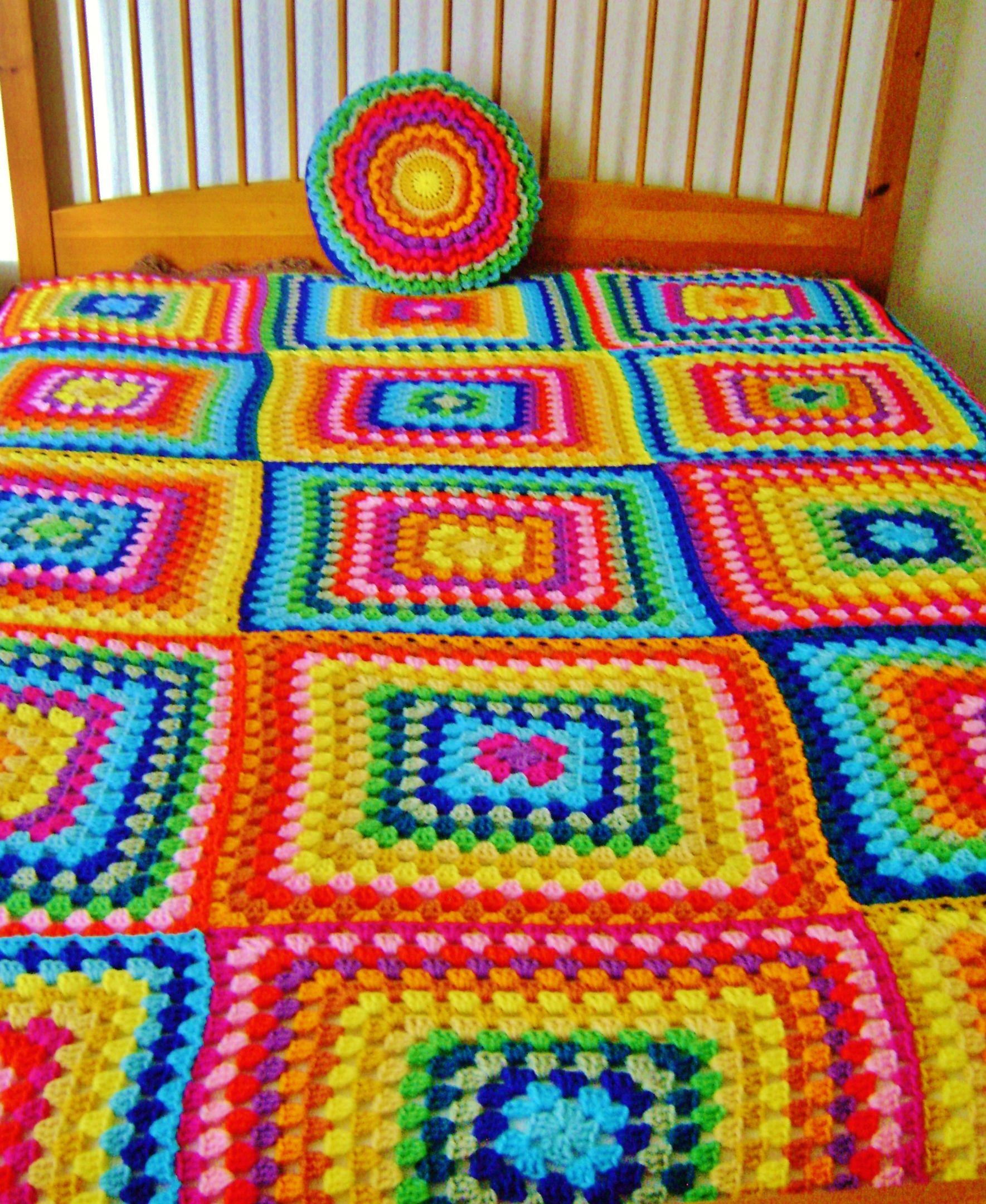 Huge Granny Blanket. | Granny Blanket | Pinterest