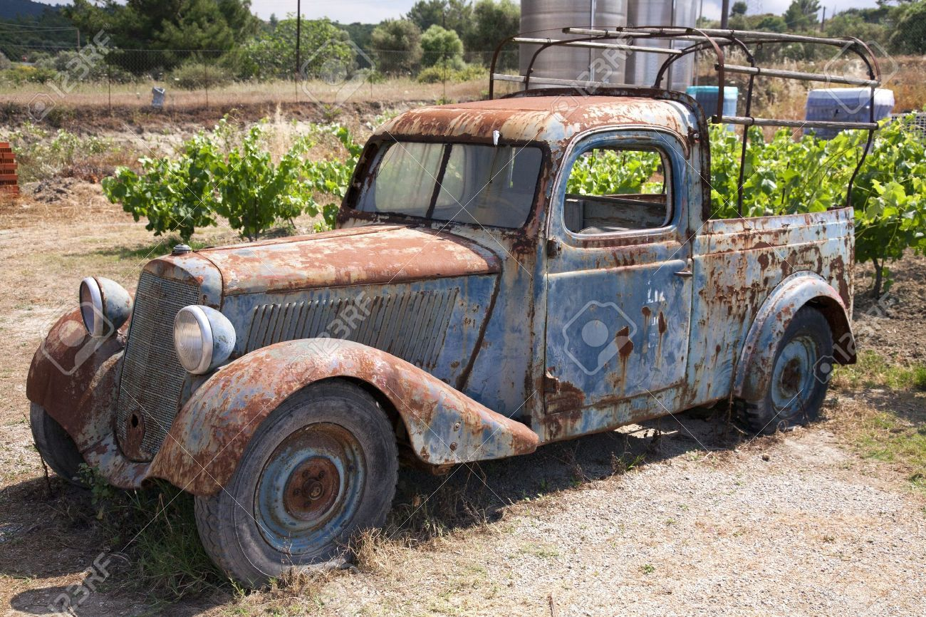 Rusty Old Abandoned Truck Stock Photo, Picture And Royalty Free ...