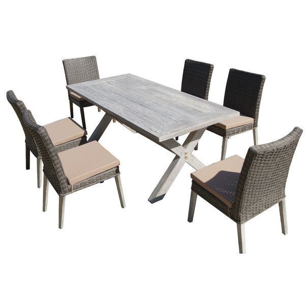 Thyhom Lindmere 7 Piece Wicker Patio Dining Set More Info Could Be Found At The Image Url
