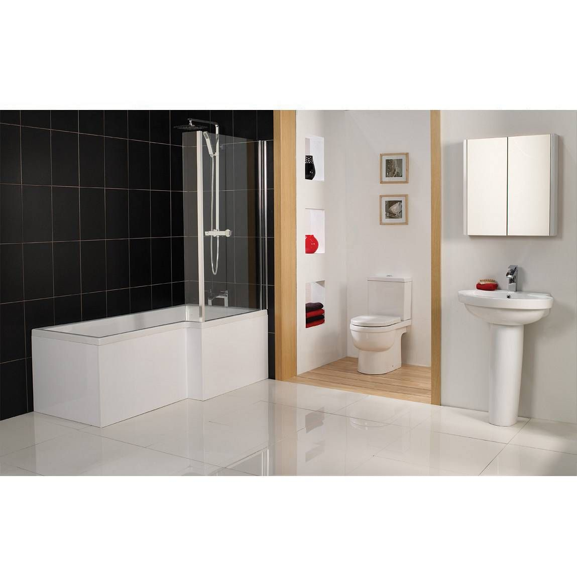 Cambridge Square Shower Bath RH & Screen | For the Home | Pinterest ...