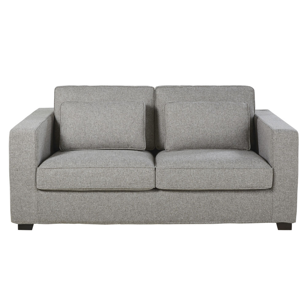 Sofa Cama De 3 Plazas Gris Mezclilla Colchon De 12 Cm Milano