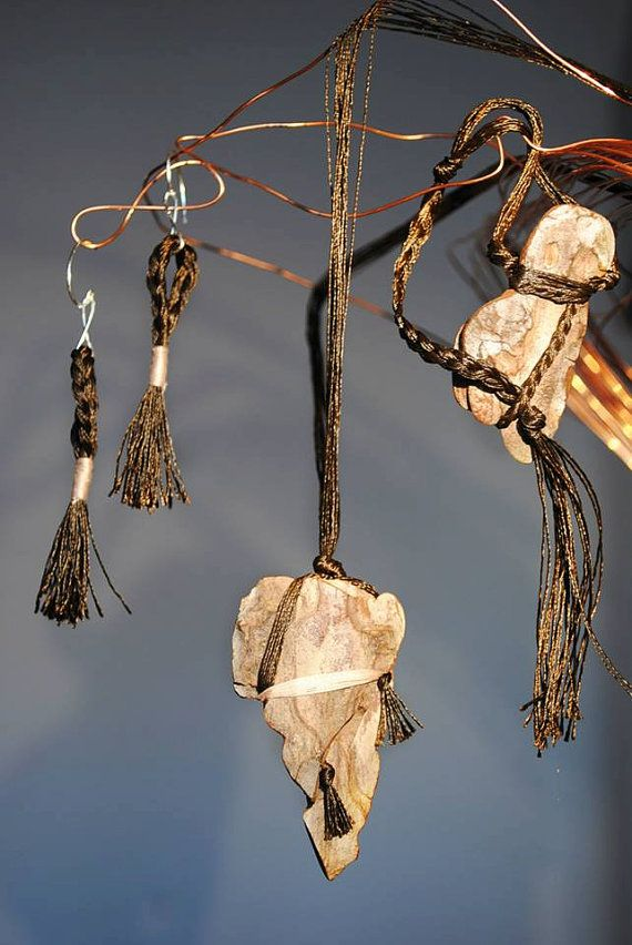 Pine bark necklace (30 cm long +6 cm pendant)  Earrings (8 cm long)  Pine bark bracelet (18 cm long + 5,5 cm pendant) The pendant of the bracelet is also a strap. You can regulate the circumference with a simple know.