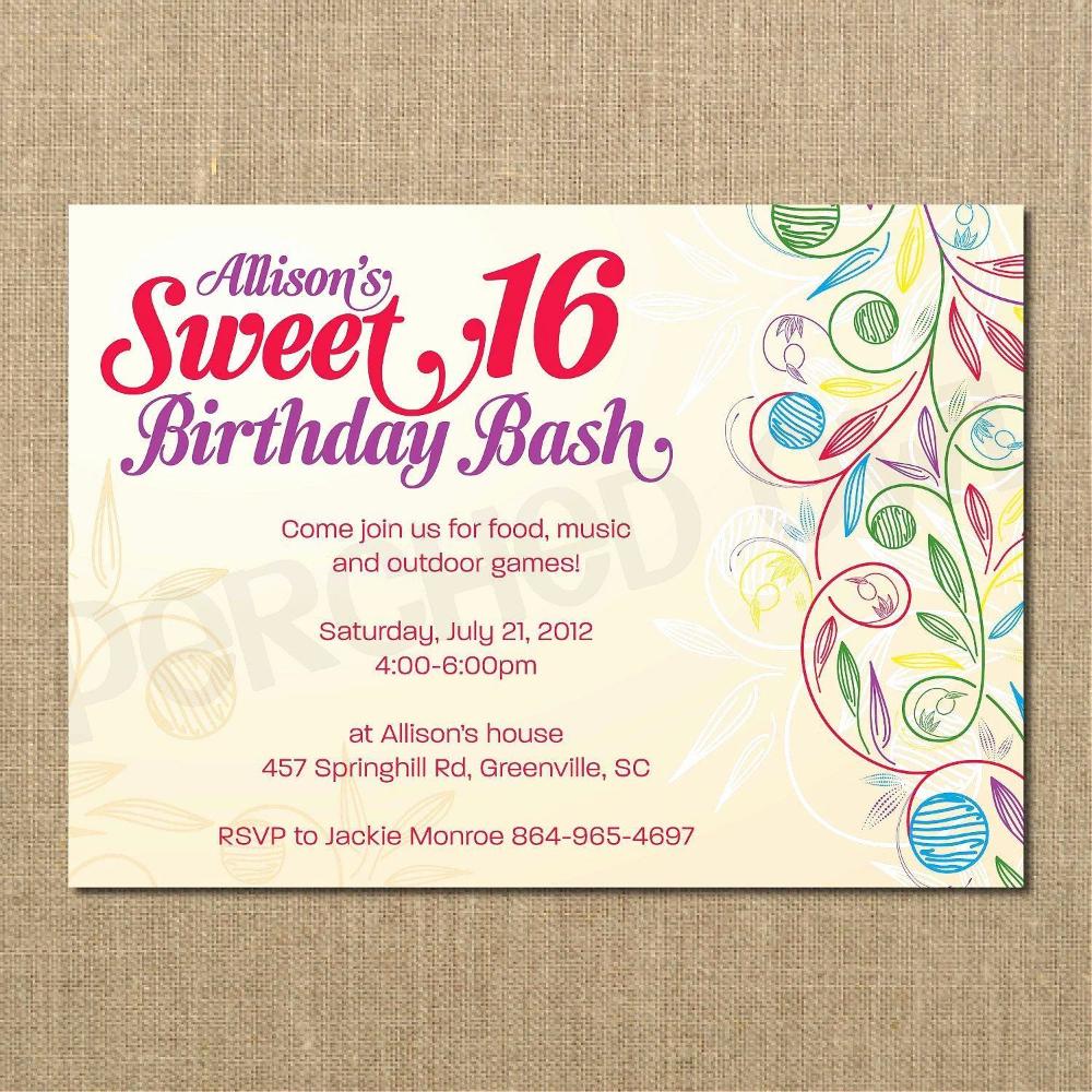 Pin Di Geburtstags Einladung