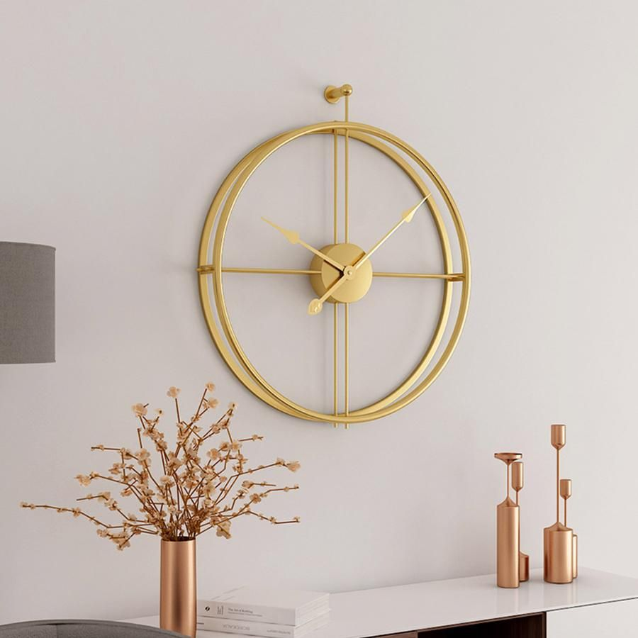 The Golden Circle Minimalist Wall Clocks Living Room Clocks Wall Clock Modern