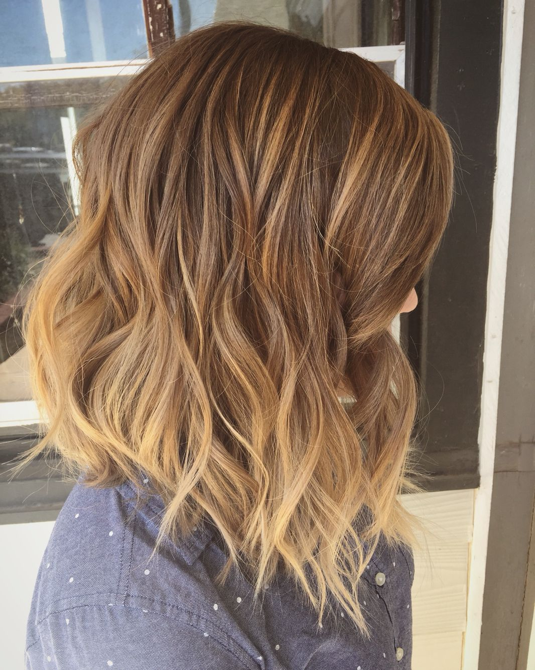 Color Too Flat For Me Want All Over Shorter And Thinned Out At The Bottom Curly Hair Styles Long Bob Hair Styles