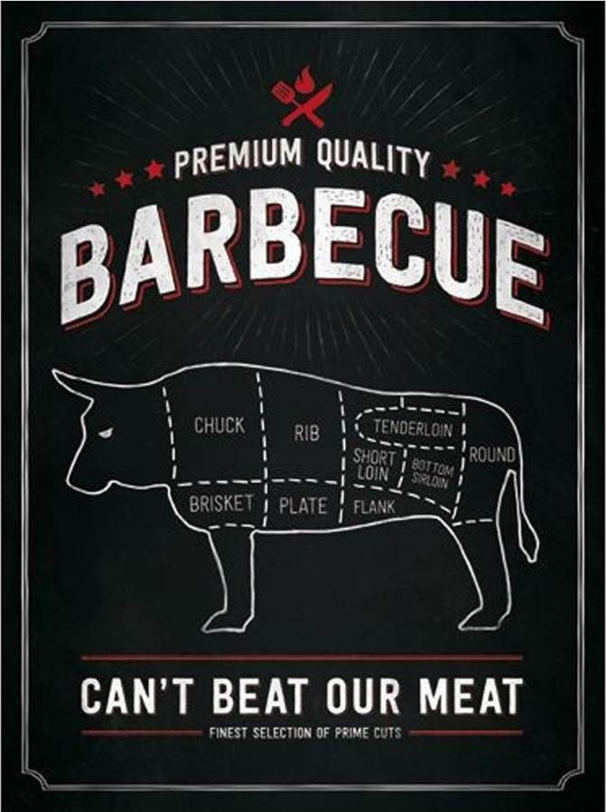 Plaque Métal Vintage Barbecue Prenium Quality Plaques