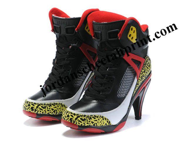 e14b82bf28547 Air Jordan 3.5 High Heels Shoes Black Red Yellow For Sale