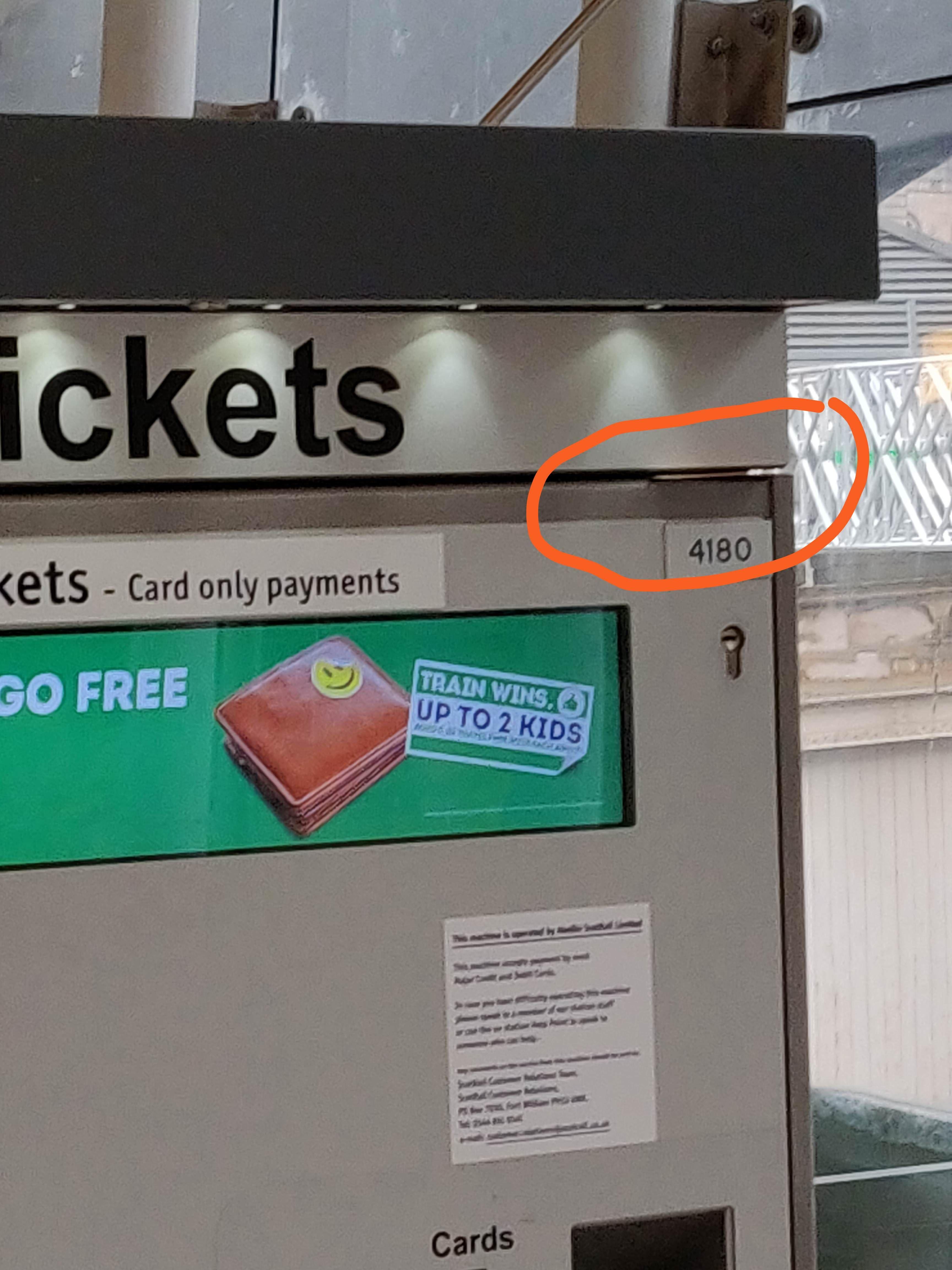 Off peak ticket to Glasgow left at Waverley market st