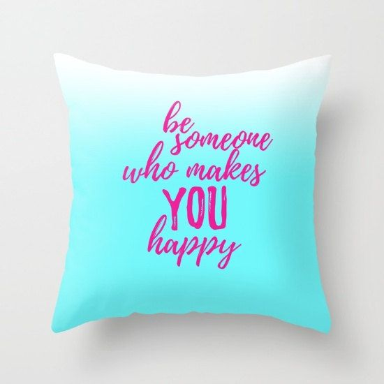 Happiness Quotes For Girls Throw Pillows With Sayings Pillow Unique Decorative Pillows For Teens