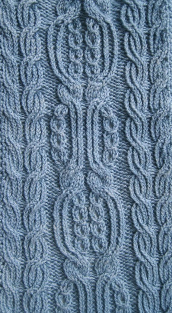 Knit Scarf Pattern: Kofu Turtleneck Cabled Scarf Knitting Pattern ...