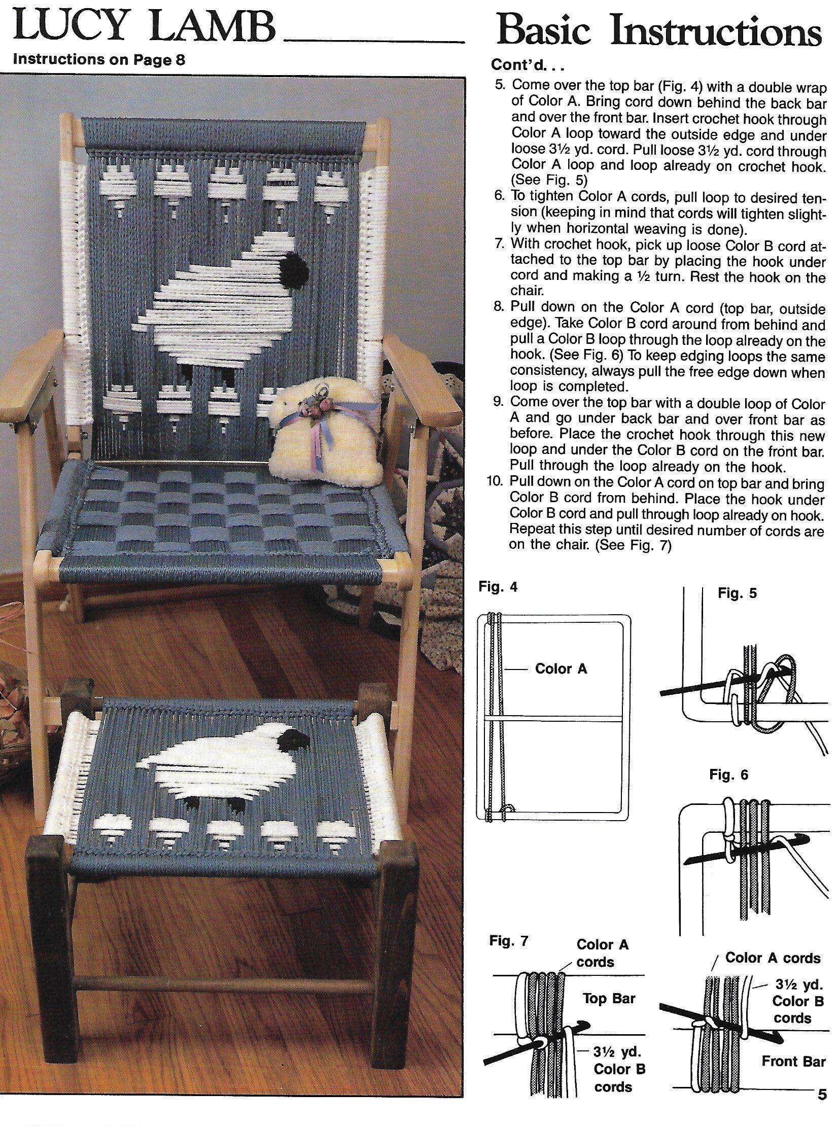 Lucy Lamb Macram 233 Deck Chair Macrame Patio Furniture Pdf