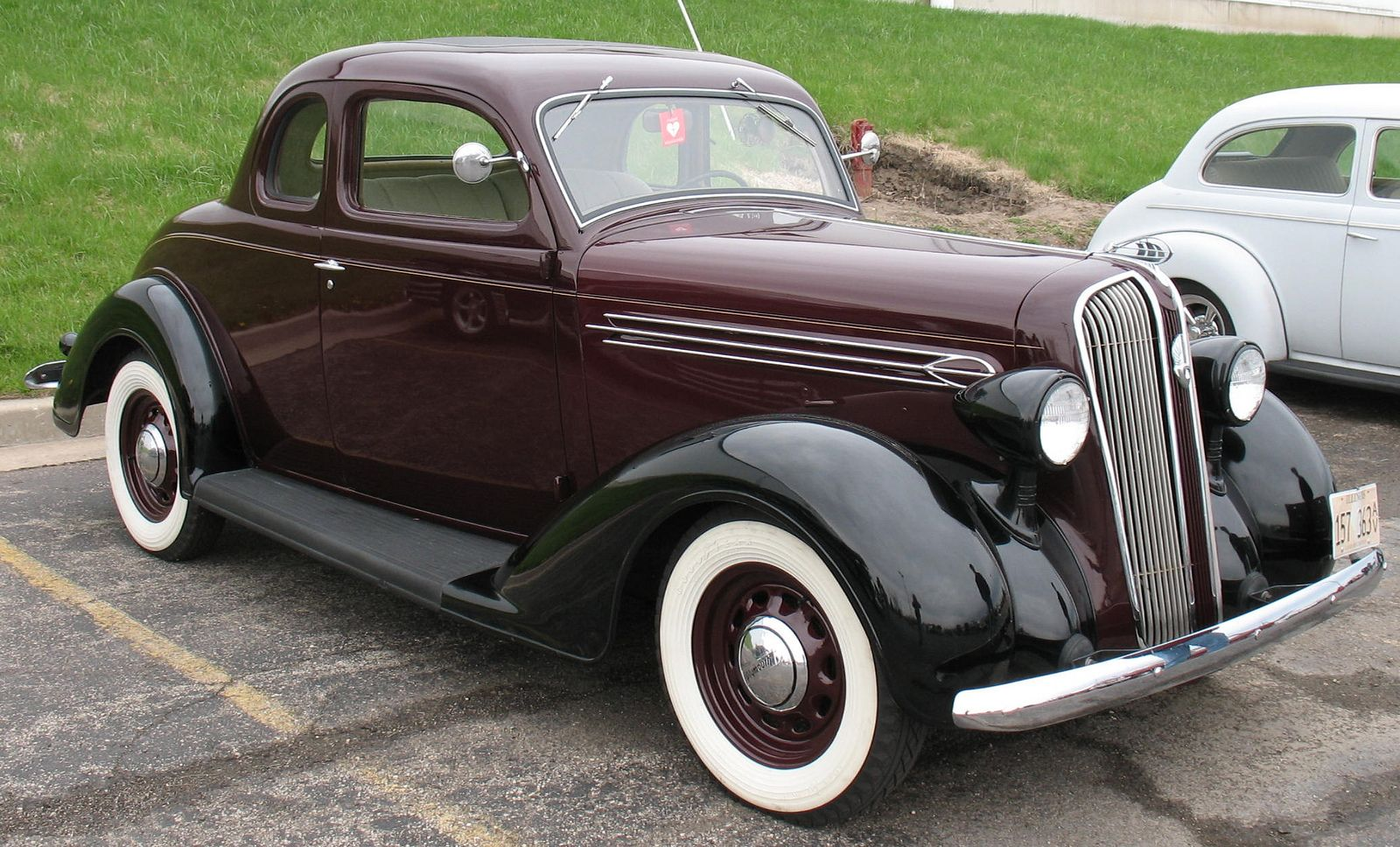 1936 Plymouth P2 Deluxe Coupe With Images Classic Cars Vintage