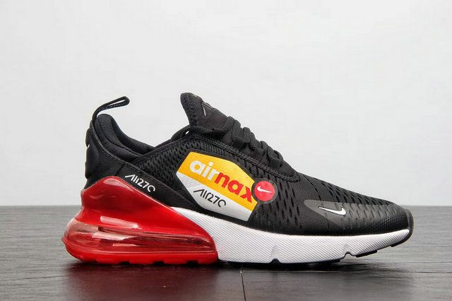 new concept b930c 238c3 Nike Air Max 270 Flyknit Ah8050-015 Black Red men shoes casual sneakers  Sneaker