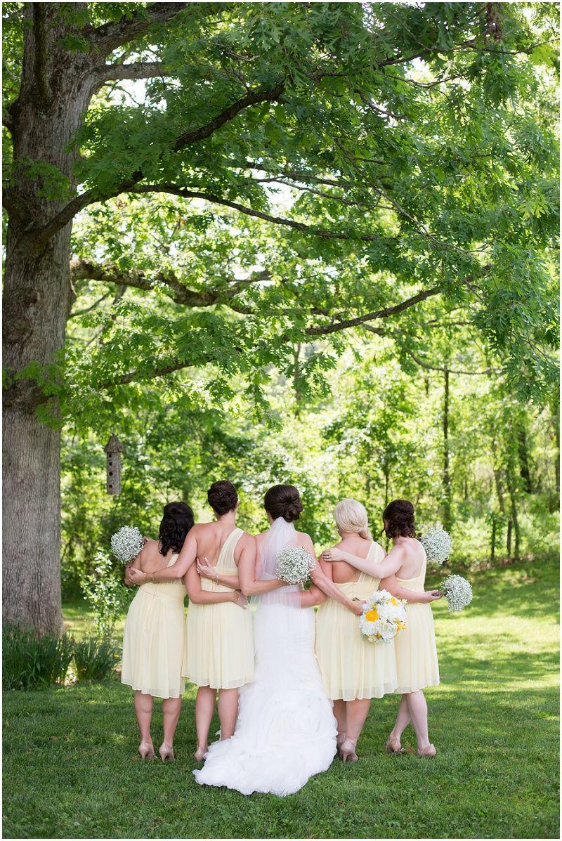 Bridal party yellow bridesmaid dress bridesmaids for Wedding dresses asheville nc
