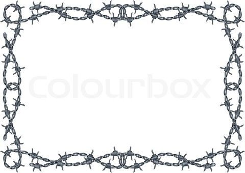 Free Silhouette Patterns barbwire | Stock vector of \'barbed wire ...