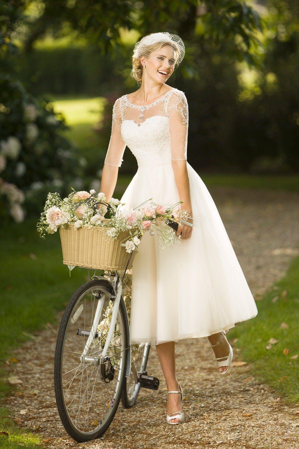 Bridedsmaid Retro Tea Length Wedding Dresses