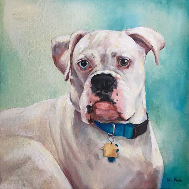Custom pet portraits oil painting commissions by