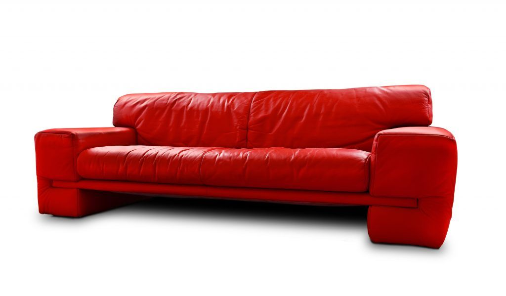 living room furniture modern red top grain leather sleeper sofa red ...