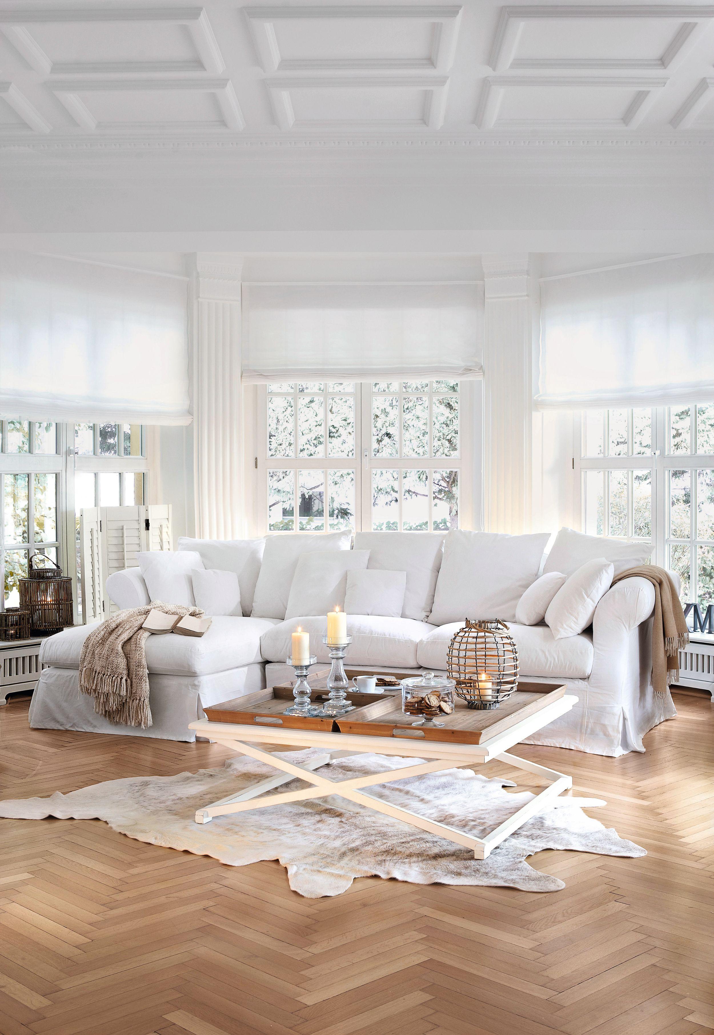 Sofa New Haven Loberon Weiss White Home Sweet Home Wohnzimmer