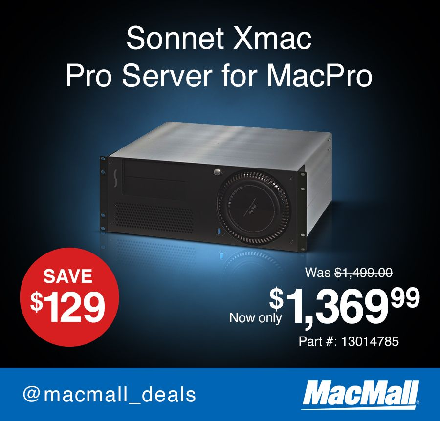 Sonnet Xmac Pro Server Pcie Expansion System 4u Rackmount Enclosure For New Mac Pro With Thunderbolt 2 Ports Xmac Ps Mac Pro New Mac Tech Deals