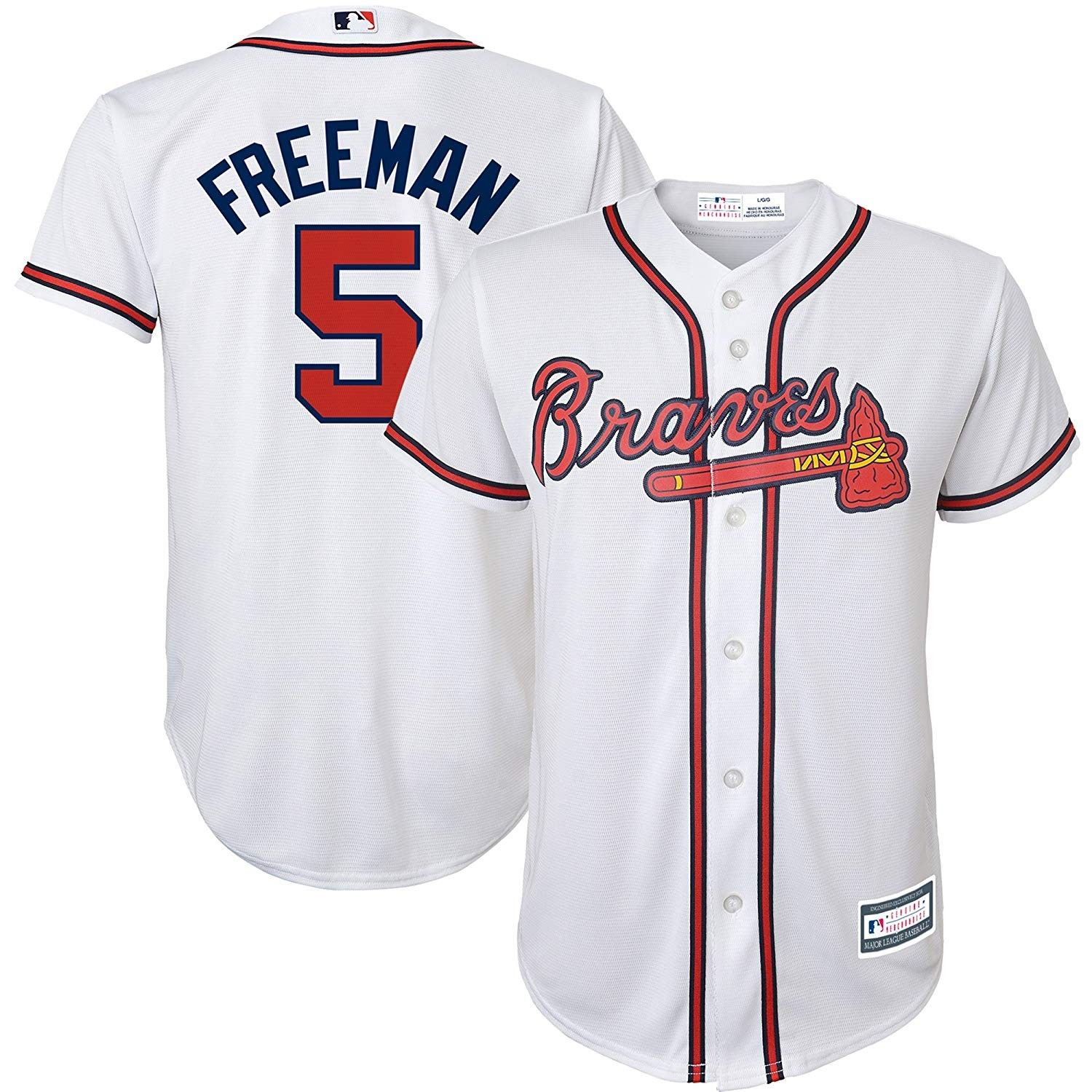 Freddie Freeman Atlanta Braves Mlb Youth White Home Cool Base Replica Jersey Ca18emglm8y Size Youth Small 8 Atlanta Braves Braves Jersey Atlanta Braves Jersey